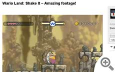 Wario Land: Shake It – Amazing footage!